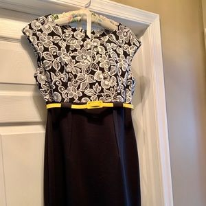 CONNECTED 10 Petite 10P Empire Wst Knit Belt Dress